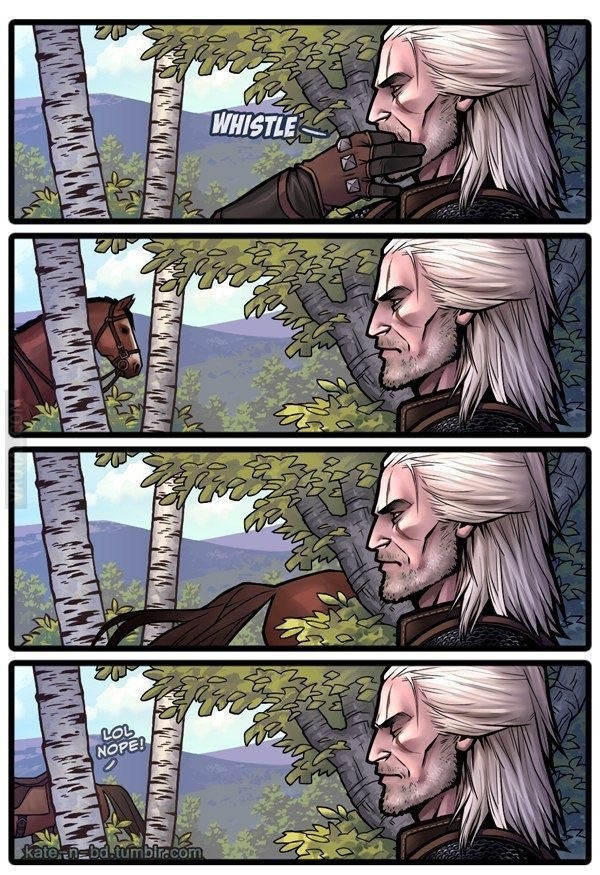 the witcher 3 fail horse